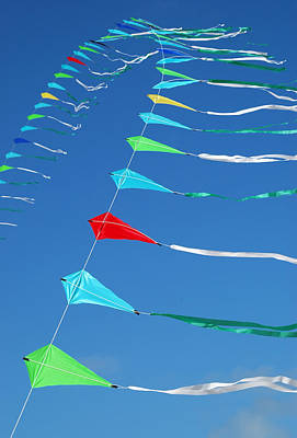 Photograph - String Of Kites by Rob Huntley