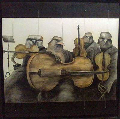 String Quartet Art Print by Flor Avila
