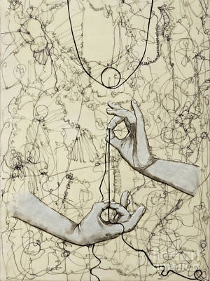Hands Painting - String Theory - This Moment by Andrea Benson