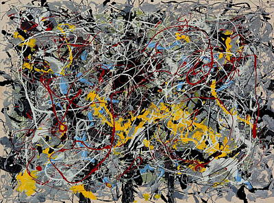 Painting - String Theory by Wayne Salvatore