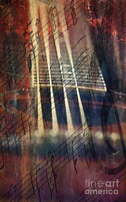 Digital Art - Stringed Grunge by Greg Sharpe