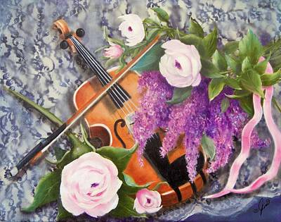 Painting - Strings And Roses by Joni McPherson