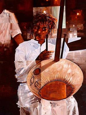 Painting - Strings by Laurend Doumba