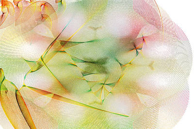 Digital Art - Strings Of Woven Color by Marie Jamieson