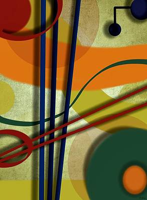 Painting - Abstract Strings by Ron Grafe