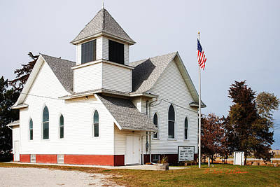 Photograph - Stringtown Community Church by Edward Peterson