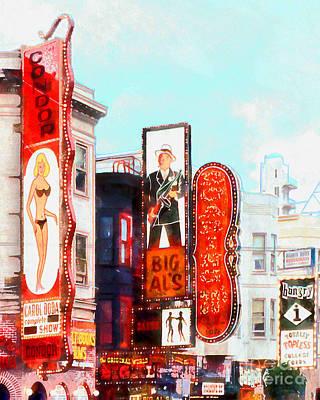 Bay Area Digital Art - Strip Club Carol Doda Condor Broadway San Francisco 20150127wcstyle Ver by Wingsdomain Art and Photography