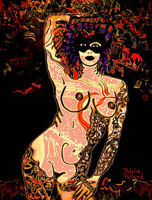 Tattoo Art Mixed Media - Strip Tease by Natalie Holland