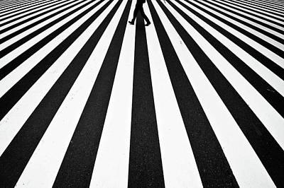 Asphalt Photograph - Stripe by Kouji Tomihisa