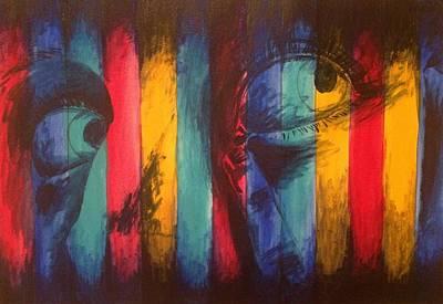 Striped Eyes Art Print by Ava Dahm
