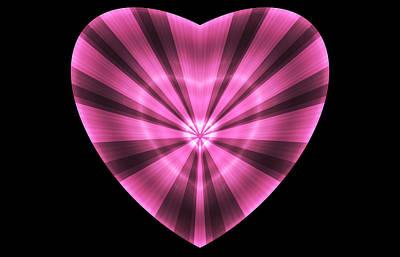 Digital Art - Striped Heart by Sandy Keeton