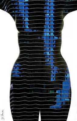 Photograph - Striped Nude by Joe Bonita