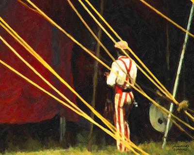 Striped Pants Art Print