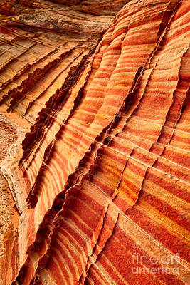 Striped Sandstone Art Print by Inge Johnsson
