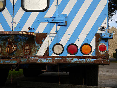 Photograph - Striped Truck by Richard Reeve