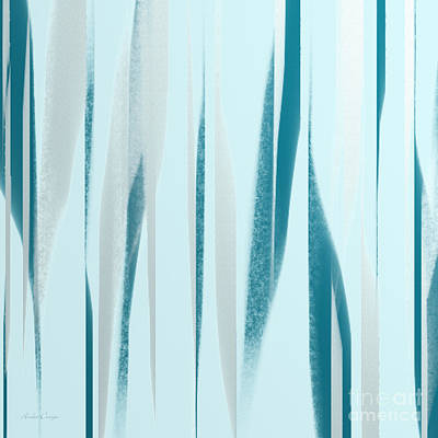 Digital Art - Stripes 9 Abstract Square by Andee Design