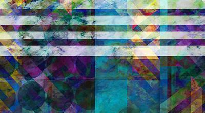 Stripes Four  -abstract -art Print by Ann Powell