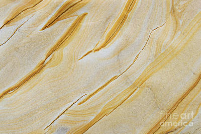 Patterns In Nature Photograph - Stripes In Stone by Tim Gainey