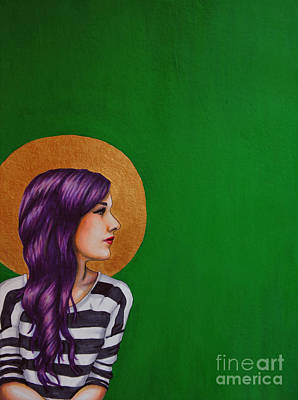 Icon Drawing - Stripes by Lucy Stephens