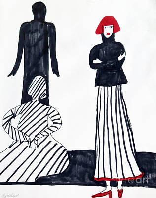 Drawing - Stripes by Lyric Lucas