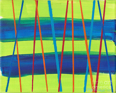 Custom Studio Painting - Stripes by Paulette B Wright