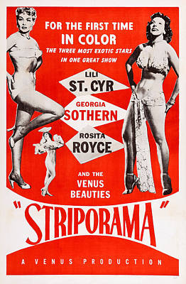 Striporama, Us Poster, From Left Lili Art Print