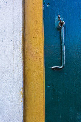 Photograph - Stripped Abstract Door by James Hammond