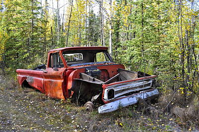 Art Print featuring the photograph Stripped Chevy by Cathy Mahnke