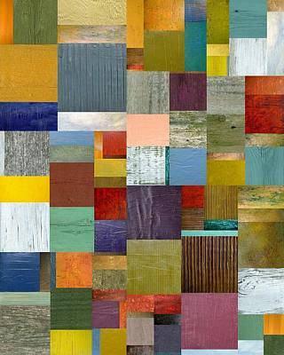 Compilation Painting - Strips And Pieces Vl by Michelle Calkins