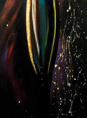 Smokey Quartz Painting - Stripy Abstract by Teressa Nichole