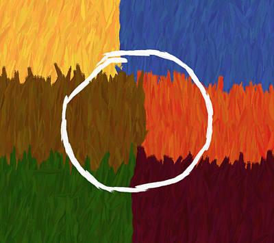 Strokes Of Colour Print by Condor