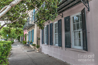 Photograph - Stroll Along Rainbow Row by Dale Powell