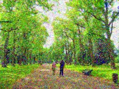 Hyde Park Digital Art - Stroll In Hyde Park by Grace Renshaw