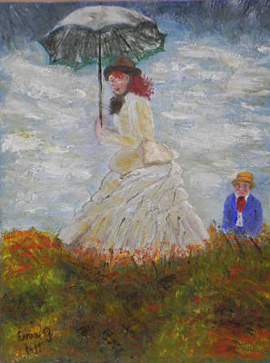 Painting - Stroll In The Meadow by Ernie Goldberg