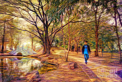 Photograph - Stroll In The Park. by Ian Gledhill