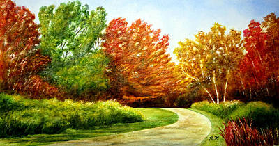 Painting - Stroll Into Autumn by Thomas Kuchenbecker
