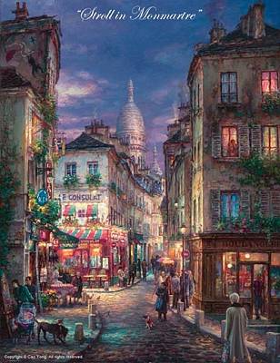 E 20 Painting - Stroll Montmartre by Cao Yong