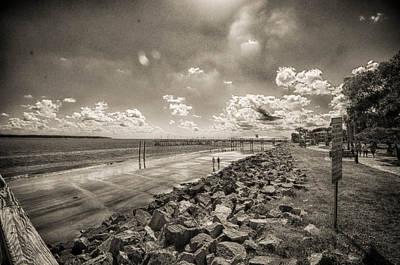 Stroll On The Beach Art Print by J Riley Johnson