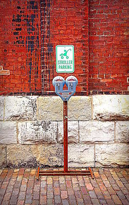 Photograph - Stroller Parking In Red by Valentino Visentini