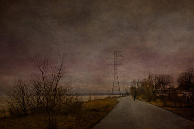 Digital Art - Strolling Along The Lakeshore by Eduardo Tavares