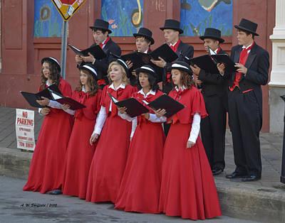 Photograph - Strolling Choir by Allen Sheffield