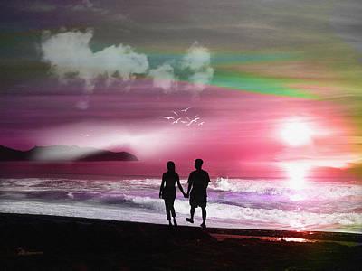Digital Art - Strolling by Ericamaxine Price