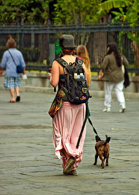 Dog Walking Photograph - Strolling In Jackson Square by Steve Harrington
