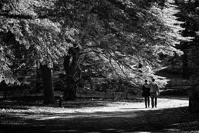 Photograph - Strolling In The Park by Cornelis Verwaal