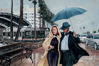 Atmospheric Painting - Strolling On The Promenade by Theo Michael