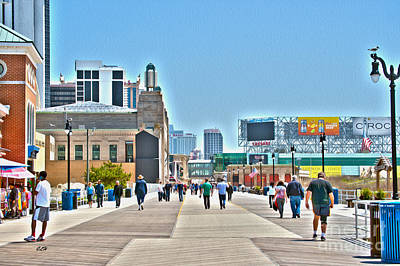 Photograph - Strolling The Boardwalk - Atlantic City by Crystal Harman