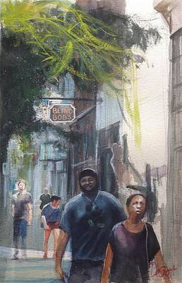 Painting - Strolling Through The Oregon District by Gregory DeGroat