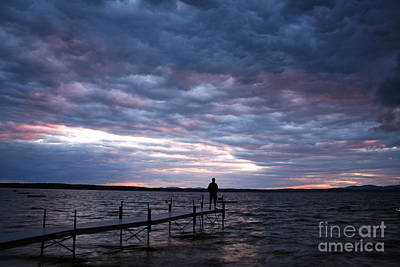 Photograph - Strom Watch Sebago Lake by Butch Lombardi