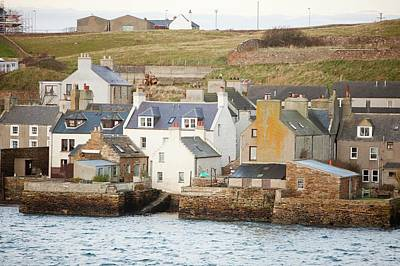 Stromness Town And Harbour  Art Print by Ashley Cooper
