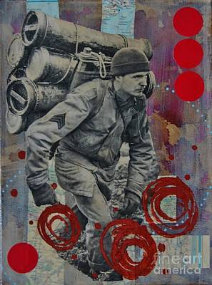 Soldiers Mixed Media - Strong Back by Brooke Adamson